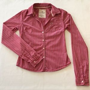 ⭐️3/$10⭐️ Hollister striped button-up shirt